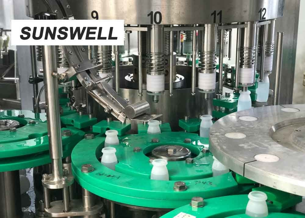 Sunswell Customized Bottle Shape  Liquid Filling Machine  With Aluminum Foil Sealing