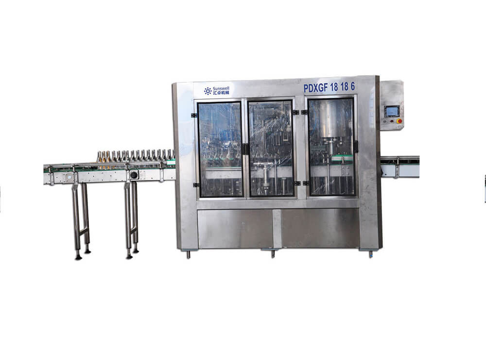 Automatic Carbonated Energy Drink Machine For Glass Bottle Beverage Production Line