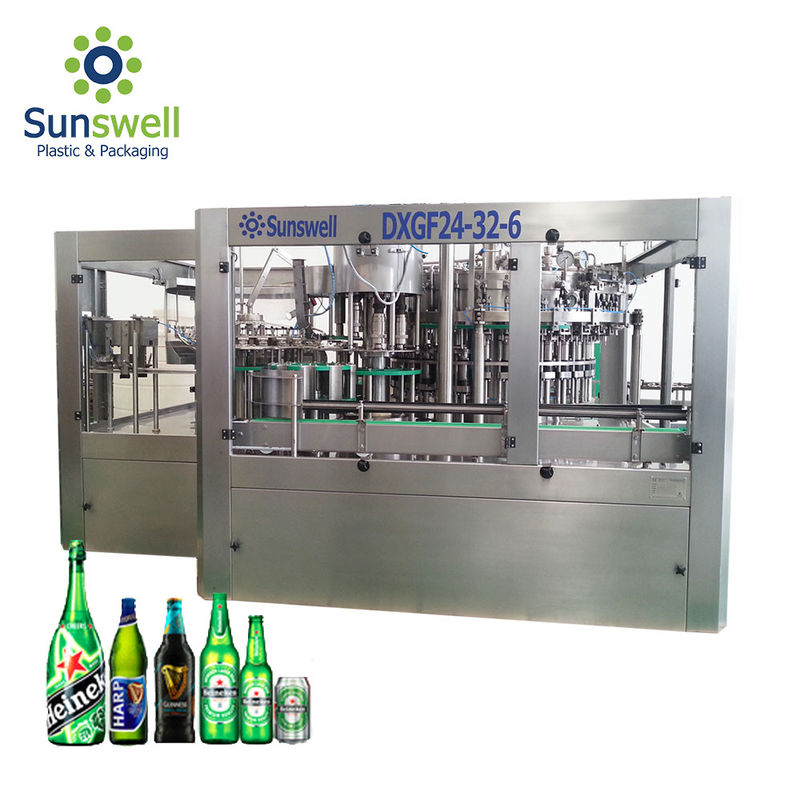 Brewery Use Automatic Bottle Filling And Capping Machine 5000 Bottles Per Hour Rotary Type