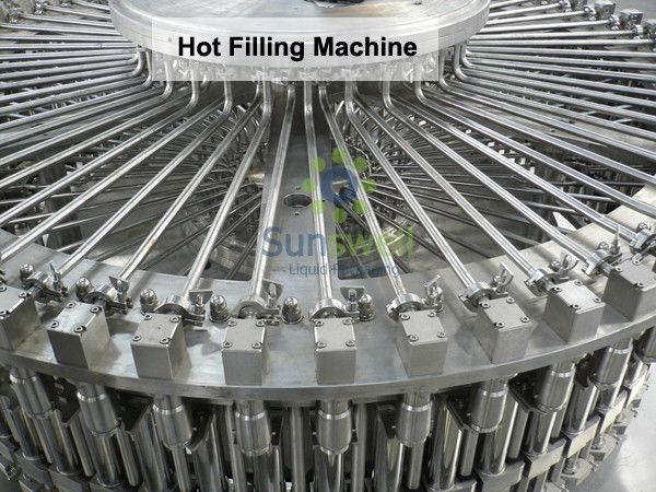 Bottled Heat-resistant Hot Filling Machine , Juice Drink Production Line