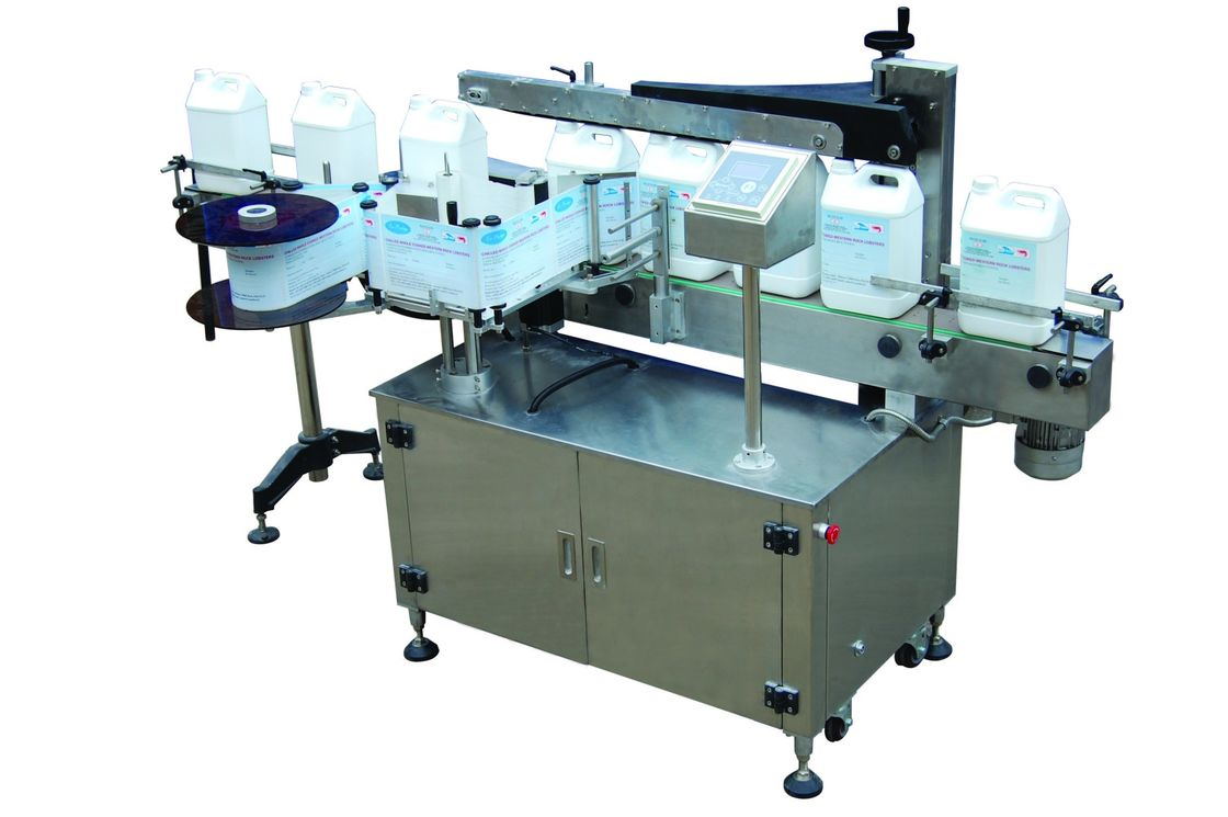 Full Automatic Single Side Self adhesive Sticker Labeling Machine for flat bottle 220V