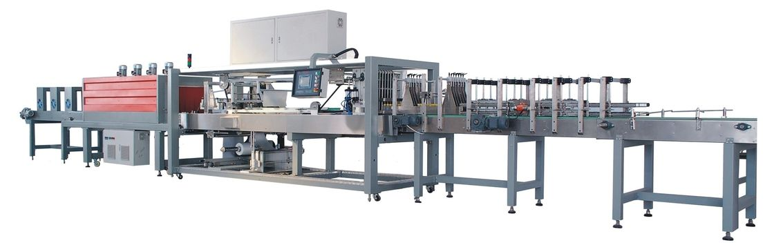Industrial Automatic PE Film Shrink Wrap Packaging Equipment System 380V / 50 ~ 60Hz